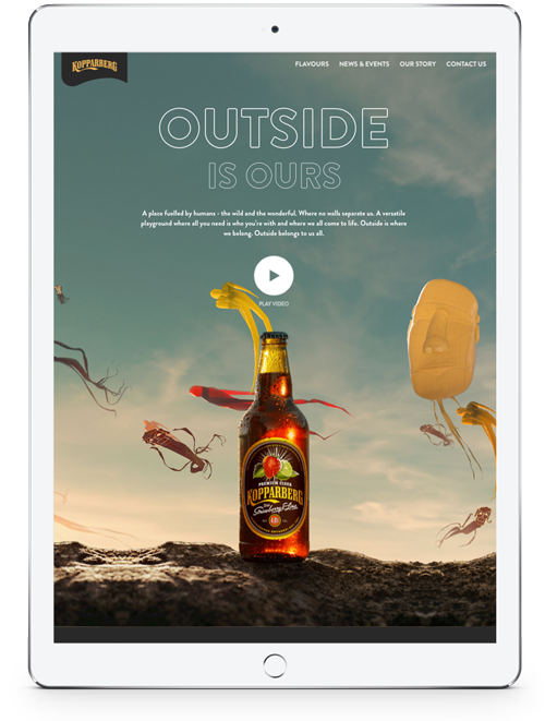 Kopparberg UK Tablet Version