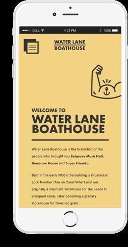 Water Lane Boathouse Mobile Version